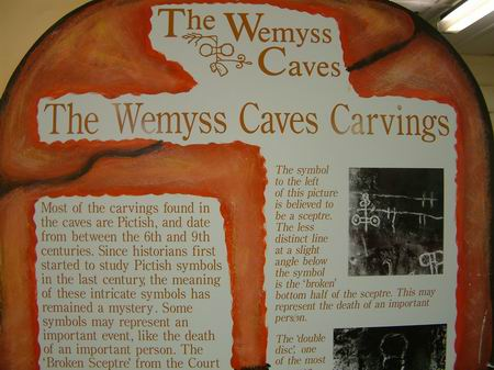 wemyss caves information display