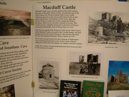 macduff castle - display about this local castle