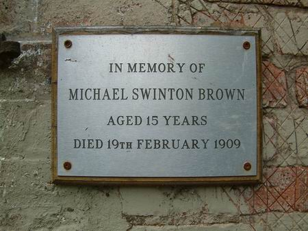 plaque in memory of michael brown