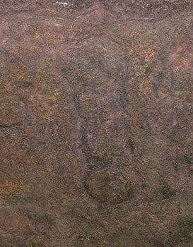 Wemyss Caves, Fife, carving in Jonathan's cave. Double discs again joined by two lines.