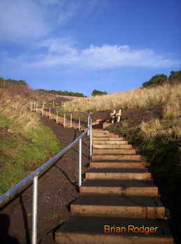wemyss caves, macduff castle, new steps provide easy access to macduff castle and the wemyss caves