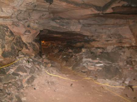 wemyss caves, looking towards the tunnel leading out of the well cave