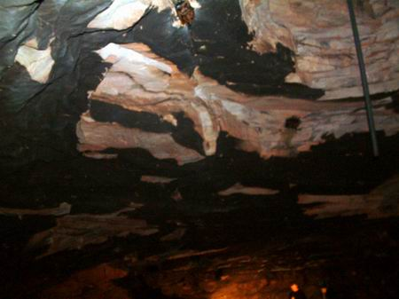 wemyss caves, well cave ceiling