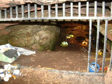 wemyss caves, shot from the gate towards the tunnel