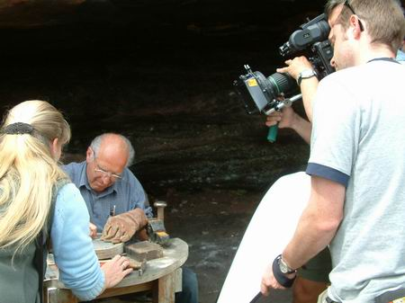wemyss caves, filming under way fern cave