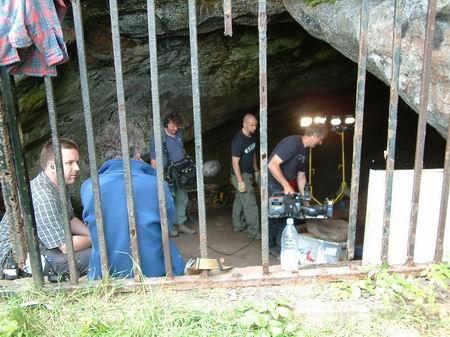 wemyss caves, filming gets underway in jonathan's cave