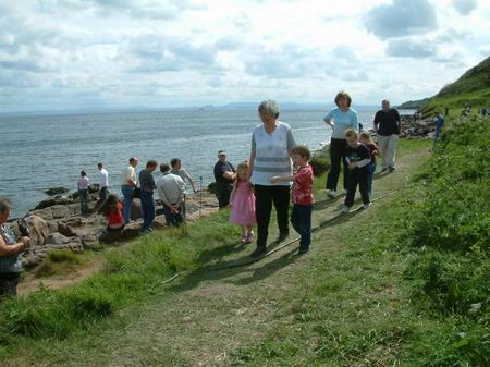 wemyss caves, locals flock to the site