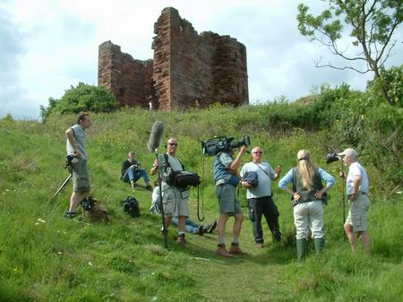 macduff castle, time team film below the castle